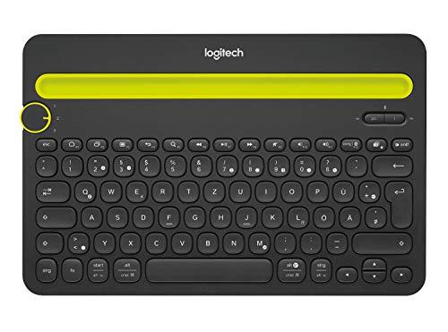 Logitech K480 kabellose Bluetooth-Tastatur für Computer, Tablet und Smartphone (QWERTZ) schwarz