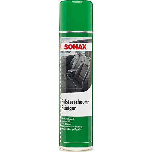 SONAX PolsterSchaumReiniger (400 ml) entfernt fasertief selbst hartnäckige Verschmutzungen aus Polstern, Teppichen und anderen Geweben | Art-Nr. 03062000