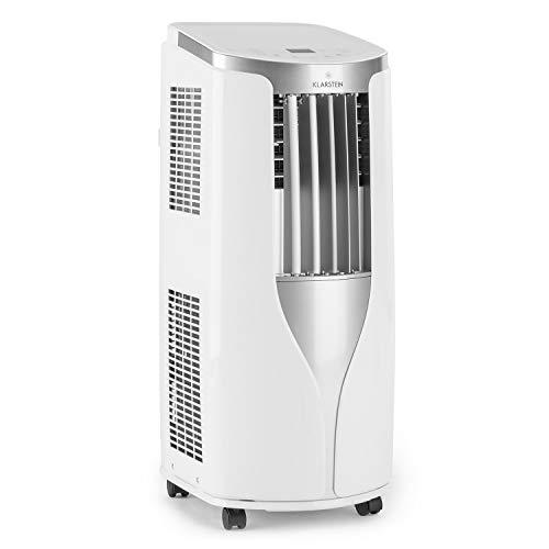 Klarstein New Breeze 7 - mobile Klimaanlage, 3-in-1: Kühlung, Entfeuchtung & Ventilation, 7.000 BTU / 2,1 kW, Energieeffizienzklasse A, Raumgröße: 21-34 m²,...