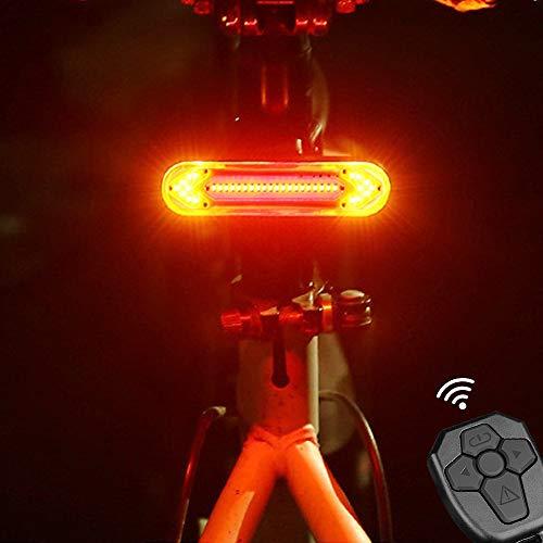 camouflage net Fahrrad Blinker Rücklicht, Fahrradrücklicht mit Fernbedienung, Wasserdicht USB Fahrradlicht, Super Hell LED Fahrradbeleuchtung, Fahrrad Hinten Licht...