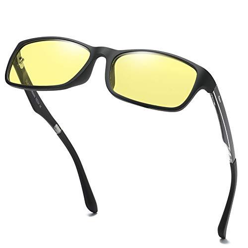 DUCO volle Randbrille ergonomisches Design Computer Gaming mit gelb getönten Gläsern Blaulicht-Schutz Bildschirmbrille 223 (Amber)