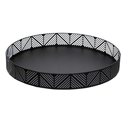 Secret de Gourmet Korb, Tablett aus Metall, schwarz, Durchmesser von 30cm