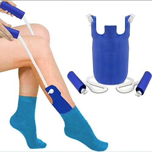 Strumpfanzieher Socken Anziehhilfe,Sock Slider Sockenhilfe Aid Helper Socken Anziehhilfe und Ausziehhilfe Strumpfanziehhilfe easy on/off Socke Anziehen und...