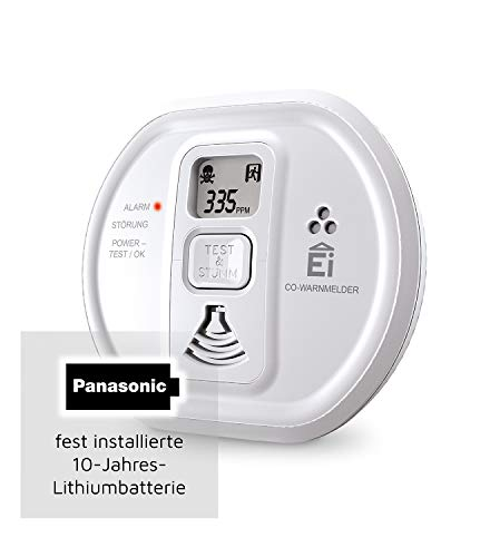 Ei Electronics Ei208D CO carbon monoxide alarm (with display and 10 year battery)
