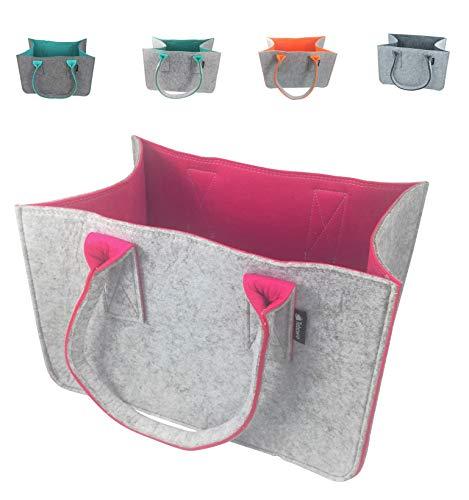 Shopping-Bag aus Filz-Stoff, große Einkaufs-Tasche mit Henkel, Einkaufskorb, faltbare Kaminholztasche zur Aufbewahrung von Holz, vielseitige Tragetasche für...