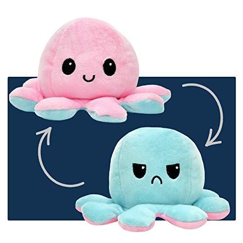 smartpillow Oktopus Kuscheltier - Reversible Octopus Plüschtier - niedliche doppelseitige Flip Octopus Geschenke für Kinder Mädchen Jungen - in 4 Farben...