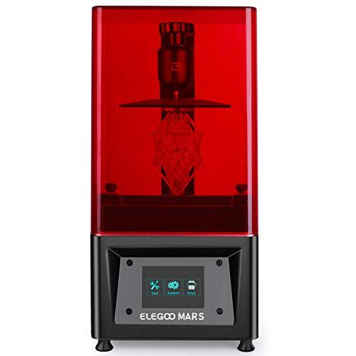 ELEGOO MARS UV LCD 3D Drucker mit 3,5 Zoll Smart Farbtouchscreen Offline-Drucken Druckbereich von 115 x 65 x 150 mm (Schwarz)