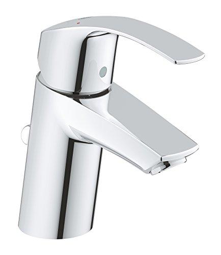 GROHE Eurosmart   Badarmatur - Einhand-Waschtischbatterie, mit Einlochmontage & Keramikkartusche   S-Size   chrom   33265002