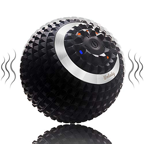 Wolady electric massage ball vibrating massage ball fascia ball for self-massage for muscle and plantar USB rechargeable pain relief muscle tension