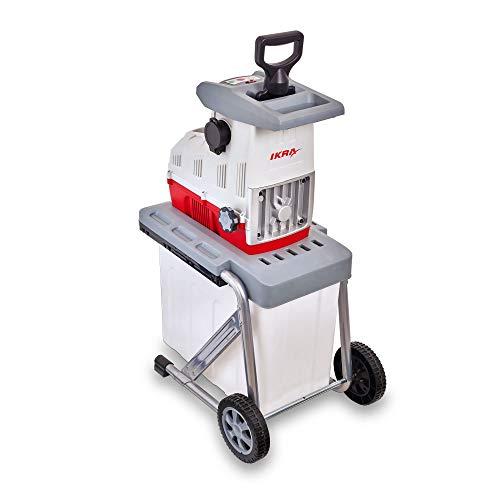 IKRA 81002880 Elektro Gartenhäcksler Walzenhäcksler ILH 3000 A, leise robust wartungsarm, Starke 3.000 Watt, Aststärke bis 44mm, 230 V