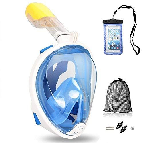 Churidy Vollmaske Schnorchelmaske Tauchmaske Vollgesichtsmaske mit 180° Sichtfeld, Dichtung aus Silikon Anti-Beschlag Wasserdicht Anti-Leck Technologie für...