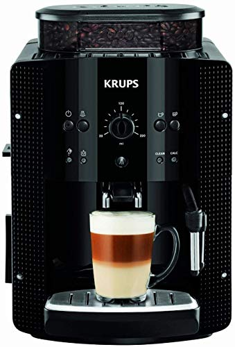 Krups EA8108 Kaffeevollautomat (automatische Reinigung, 2-Tassen-Funktion, Milchsystem mit CappucinoPlus-Düse, 15 bar, Kaffeemaschine, Espresso, Kaffeeautomat)...