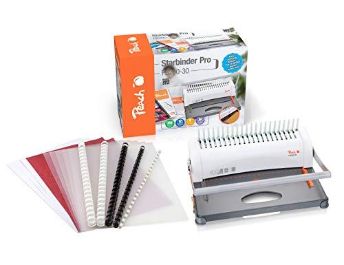Peach PB200-30A Plastikbindegerät   Star Binder Pro - DIN-A4   Preis-/Leistungs-Sieger*   bindet 350 Blatt   max. 38 mm Binderücken   12 Blatt Stanzkapazität  ...