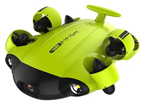 QYSEA FIFISH V6 Unterwasserdrohne 4K UHD Kamera Super Kit 100M Leine mit Kabelrolle VR Headset