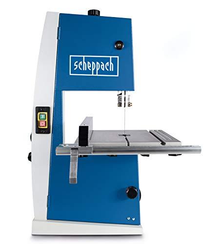 Scheppach Bandsäge BASA1 (300 Watt, max. Schnitthöhe: 100mm, Durchlassbreite: 195mm, bis zu 45° schwenkbarer Arbeitstisch, Bandrad-Ø: 200mm,...