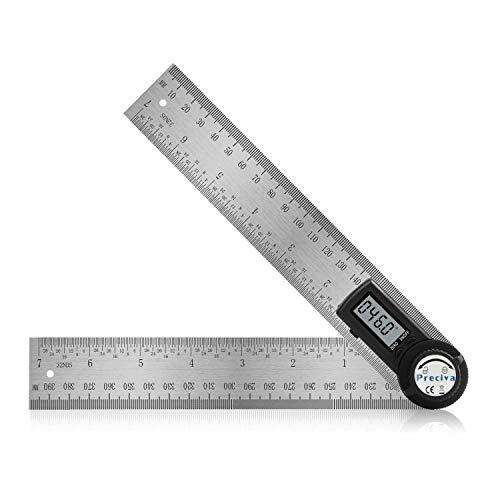 Winkelmesser, Preciva Digital Winkelschmiege mit Feststellfunktion, Messbereich: 000.0°~999.9°, Lineal aus Edelstahl für Holzarbeiten, Heimarbeit - 400 mm/ 14...