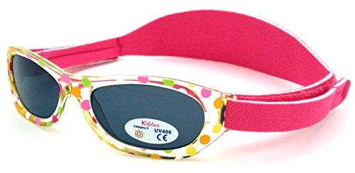 Kiddus Baby-sonnenbrille für JUNGEN UND MÄDCHEN im Alter von 0 Monaten bis 2 Jahren, 100% UV-Schutz, SUPER KOMFORTABEL mit verstellbarem WEICHEN Riemen. Das ideale...