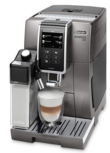 De'Longhi Dinamica Plus ECAM 370.95.T Kaffeevollautomat mit Milchsystem, Cappuccino und Espresso auf Knopfdruck, 3,5 Zoll TFT Touchscreen Farbdisplay und...