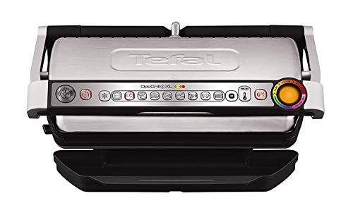 Tefal OptiGrill XL GC722D Kontaktgrill (mit Plus XL-Grillfläche, mit zusätzlichen Temperaturstufen, automatische Anzeige des Garzustands, 9 voreingestellte...