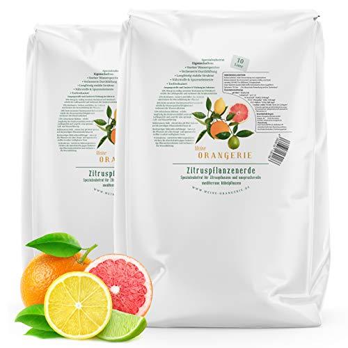 Meine Orangerie Zitruserde und mediterrane Pflanzenerde [20l] - Spezial-Zitronenerde mit Zitrusdünger - Pflanzerde für anspruchvolle mediterrane Kübelpflanzen wie...