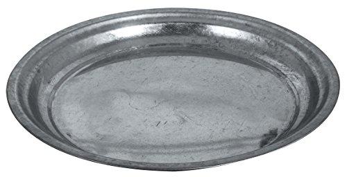 Rayher 46275000 Zink-Dekoteller, Durchmesser 30 cm