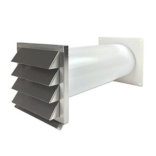 EASYTEC® Energiesparender Mauerkasten Ø 150 mm Edelstahl mit zwei Rückstauklappen 716350881519