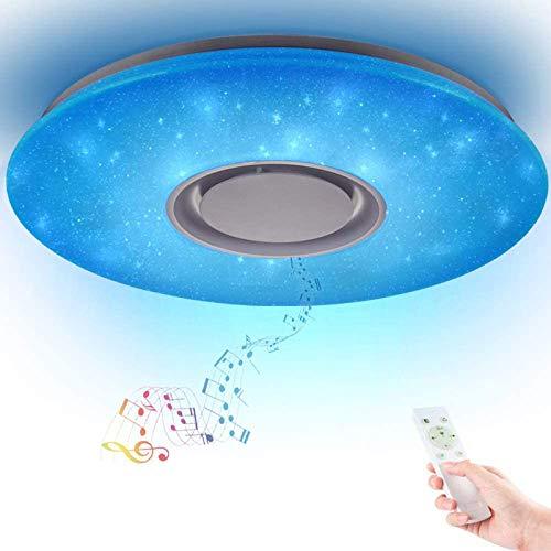 36W Sternenhimmel Deckenleuchte LED mit Fernbedienung Dimmbar Farbwechsel, Bluetooth Lautsprecher Musik Deckenlampe, für Kinderzimmer Schlafzimmer Kinder Geschenk...