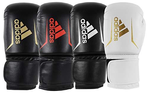 adidas Erwachsene Speed 50 Boxhandschuhe, schwarz/weiß, 12 oz