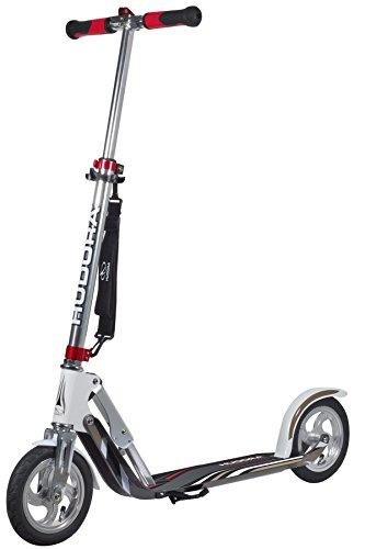 HUDORA Unisex Jugend Air GS 205 Luftreifen Big Wheel Tret-Roller City Scooter, Silber/weiß, 1size