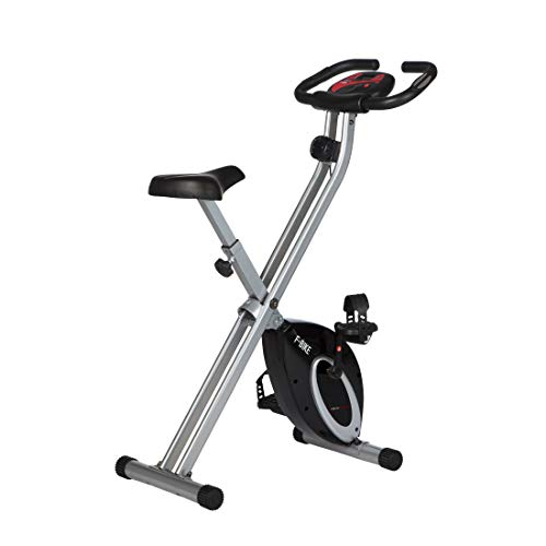 Ultrasport exercise bike F-Bike Advanced, LCD display, foldable exercise bike, adjustable resistance levels, with hand pulse sensors, foldable bike trainer, for ...