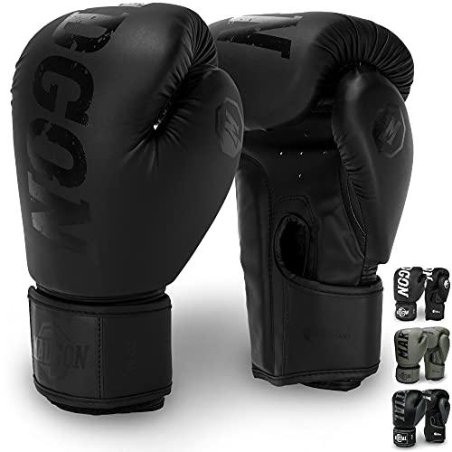 Martial Boxhandschuhe aus bestem Material für Lange Haltbarkeit - Männer und Frauen Kickboxhandschuhe für Kampfsport, MMA, Sparring, Muay Thai und Boxen 10 12 14...
