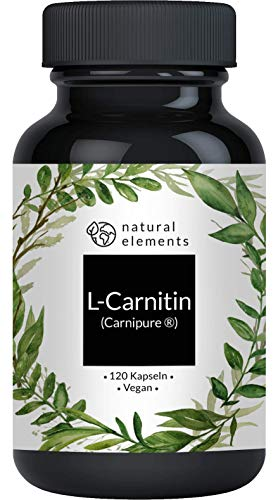 L-Carnitin 3000 - Premium: Carnipure von Lonza - 120 Kapseln - Laborgeprüft, hochdosiert, vegan, hergestellt in Deutschland