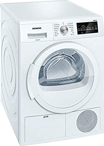 Siemens WT46G400 iQ500 Kondensationstrockner / B / 8 kg / Großes Display mit Endezeitvorwahl / autoDry-Funktion / softDry-Trommelsystem / weiß
