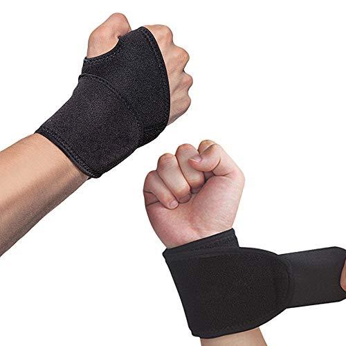 Hually Handgelenk Bandagen, (2er-Set) Verstellbare Handgelenkstütze mit Klettverschluss, Daumenbandage, Atmungsaktivem Handgelenk-Wickelband Bietet...