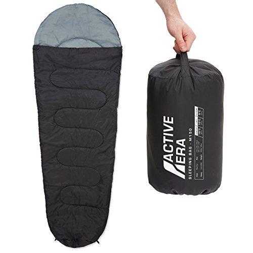 Active Era 150 Premium Mumienschlafsack, leicht - Schlafsack für Outdoor Camping im Sommer oder Indoor