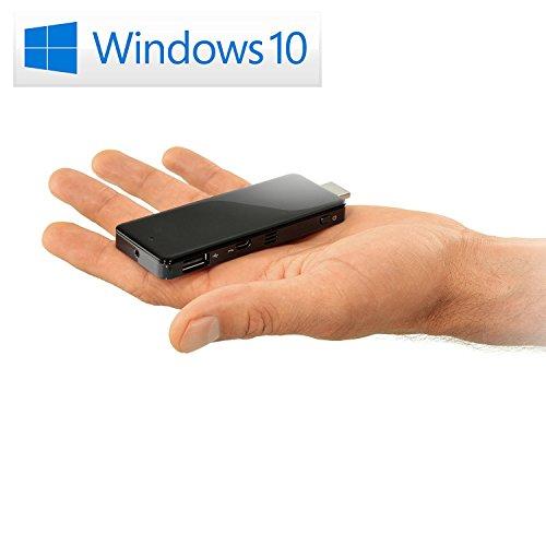 Mini PC - CSL PC on a Stick/Win 10 - Silent HDMI-Stick mit Intel QuadCore CPU 1833MHz, 32GB SSD, Intel HD Graphics, WLAN, USB, HDMI, microSD, Bluetooth, Windows 10...