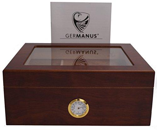 GERMANUS Humidor Classic Desk, Braun fr ca. 50 Zigarren