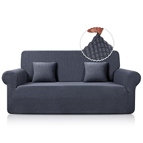 TAOCOCO Sofa Überwürfe Sofabezug Jacquard Elastische Stretch Spandex Couchbezug Sofahusse Sofa Abdeckung in Verschiedene Größe und Farbe (Grau,...