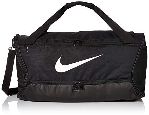 Nike Brasilia (Medium) Training Bag, Black / Black / White, 64 x 30 x 30 cm