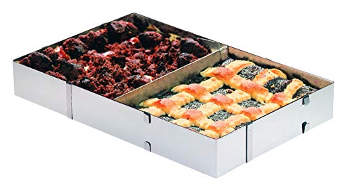Westmark cake / pizza frame with divider, adjustable in length and width, stainless steel, silver, 31322260