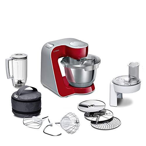 Bosch Küchenmaschine MUM5 CreationLine MUM58720, Edelstahl-Schüssel 3,9 L, Mixer 1,25 L, Planetenrührwerk, Knethaken, Schlag-, Rührbesen Edelstahl,...