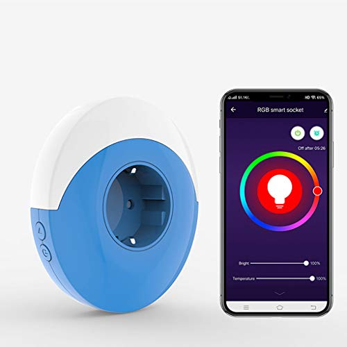 Xbeast Night Light Smart Plug WiFi-Steckdose RGB Light mit festgelegten Zeitplänen und Sprachsteuerung Wi-Fi Smart Plug kompatibel mit Amazon Alexa und Google Home
