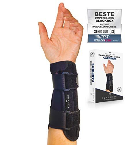 BLACKROX Handgelenkschiene CARPIROX Vergleichssieger Handgelenkbandage Handgelenkschiene Handgelenkstütze Handbandage Sport Männer Frauen links und rechts Hand...