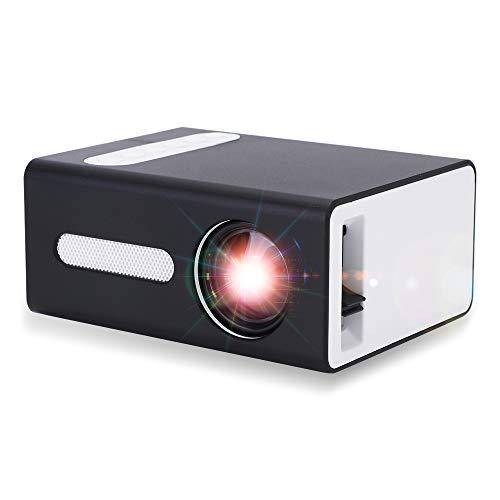 Pro-Projektor, Maxsooner tragbarer Mini-Projektor für Mobilgeräte Kompatibel mit USB HDMI TF AV 3,5-mm-Kopfhöreranschluss, Geschenk für Kinder