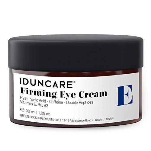 Iduncare Straffende Augencreme - Anti Aging Augenpflege gegen geschwollene Augen, hängende Augenlider, Augenringe & Falten - Augencreme mit Hyaluron & Koffein - 30...