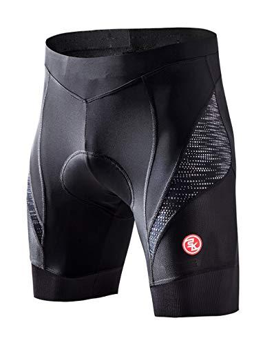 Souke Sports Herren 4D Gepolsterte Radlerhose Atmungsaktiv Schnelltrocknend Fahrradhose, M