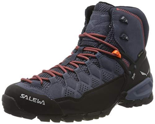 Salewa Herren MS Alp Trainer Mid Gore-TEX Trekking-& Wanderstiefel, Ombre Blue/Fluo Orange, 44.5 EU