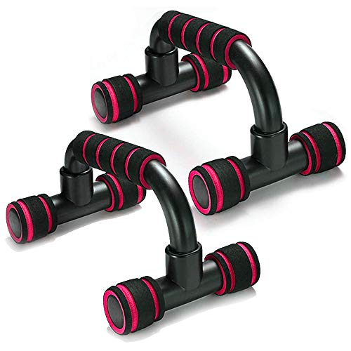 Adkwse push-ups, push-up grips, set of 2 push-up grips with non-slip, professional push-up bars for muscle training and strength training (red)