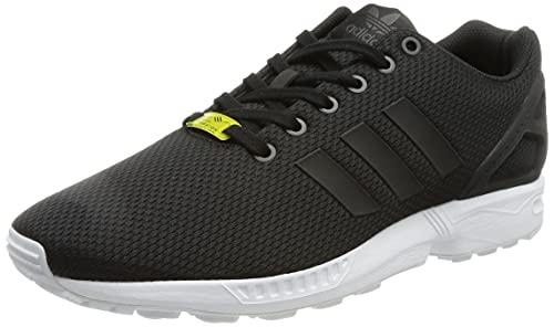 adidas ZX Flux, Unisex-Erwachsene Sneakers, Schwarz (Black/Black/White), 43 1/3 EU