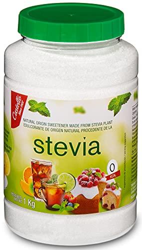 Stevia und Erythrit Kristallzucker 1:1 - 100% Natürlicher Zuckerersatz - 0 Glykämischer Index - Keto und Paleo - Castello since 1907 (1g = 1g Zucker (1:1), 1 kg...